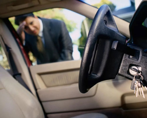 забытые в авто ключи