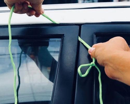 вскрытие авто веревкой
